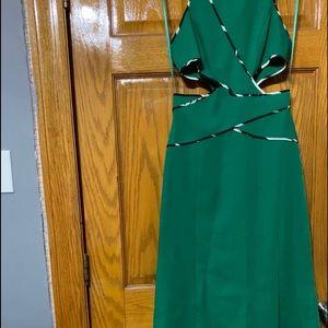 Long Green Prom Dress size 0.